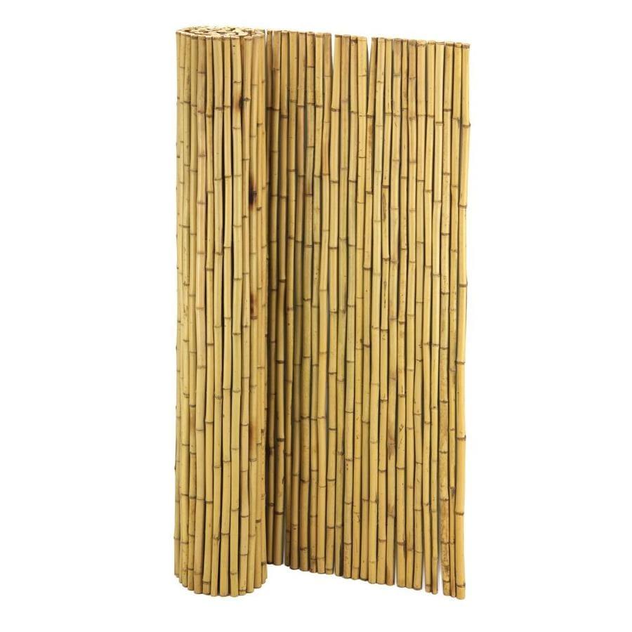 Cali Bamboo (Actual: 8-ft x 6-ft) Bamboo Fencing Natural ...