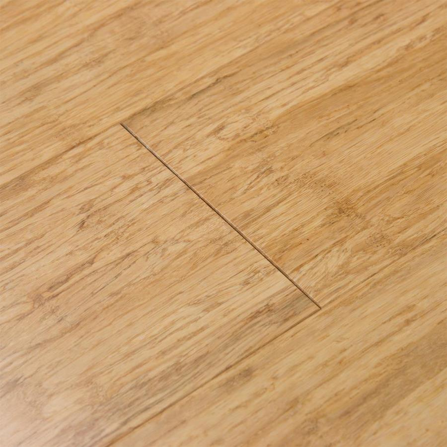 Shop cali bamboo fossilized 5 in natural bamboo solid for Flooring sale