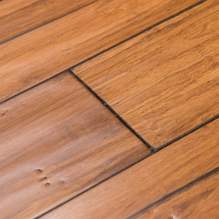 Good Cali Bamboo Fossilized 5 In Distressed Mocha Bamboo Solid Hardwood Flooring  (19.91 Sq