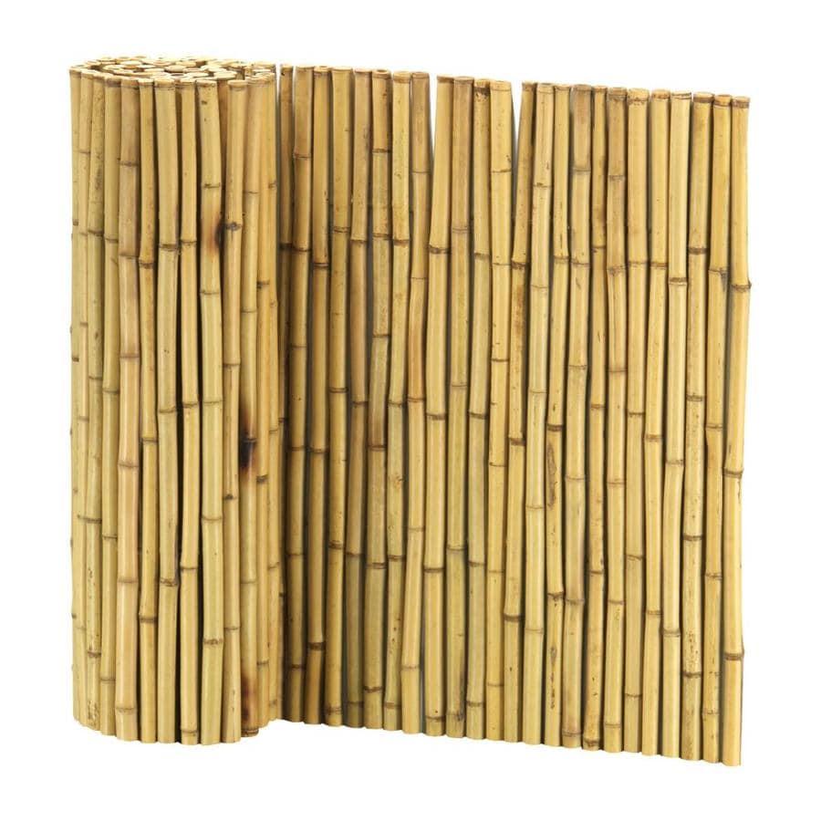 Cali Bamboo (Actual: 8-ft x 3.5-ft) Bamboo Fencing Natural ...