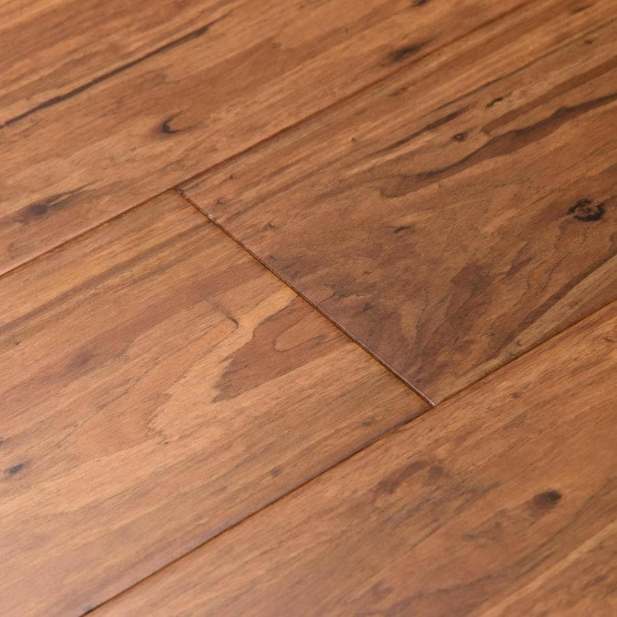 Shop cali bamboo fossilized 5 in mocha eucalyptus solid for Solid hardwood flooring