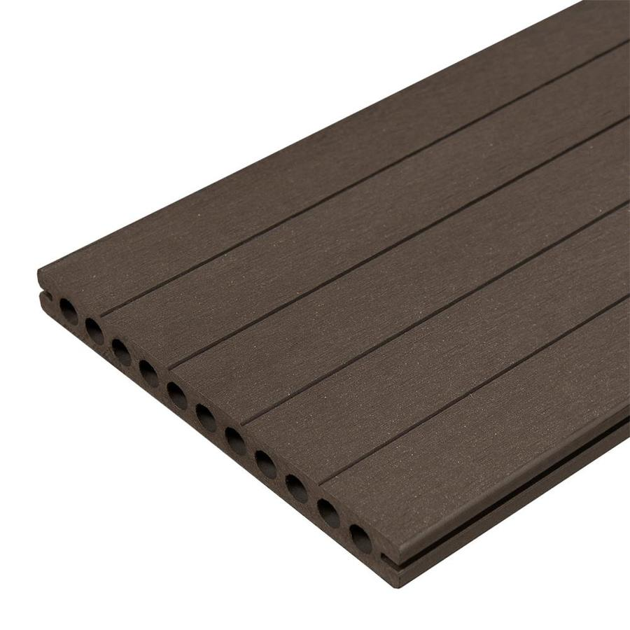 Shop cali bamboo bamdeck 8 ft charcoal composite deck for Composite deck boards reviews