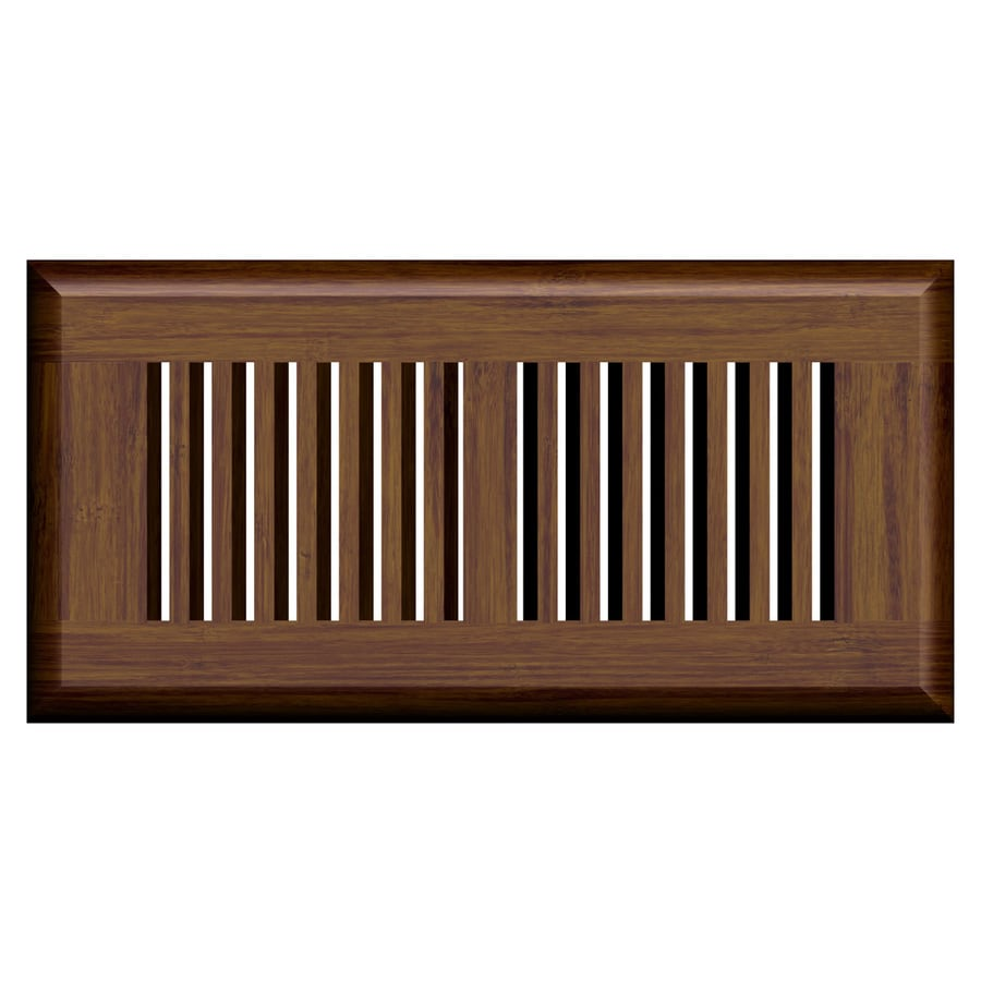 Cali Bamboo Java Stained Wood Floor Register (Rough Opening: 11-in x 4-in; Actual: 11-in x 5.625-in)