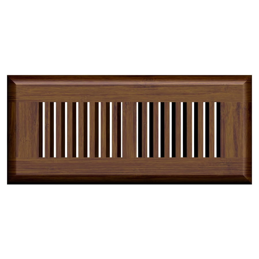 Cali Bamboo Java Stained Wood Floor Register (Rough Opening: 4-in x 12-in; Actual: 13.5-in x 5.62-in)