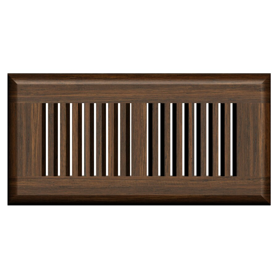 Cali Bamboo Antique Java Stained Wood Floor Register (Rough Opening: 10-in x 4-in; Actual: 11.25-in x 5.625-in)