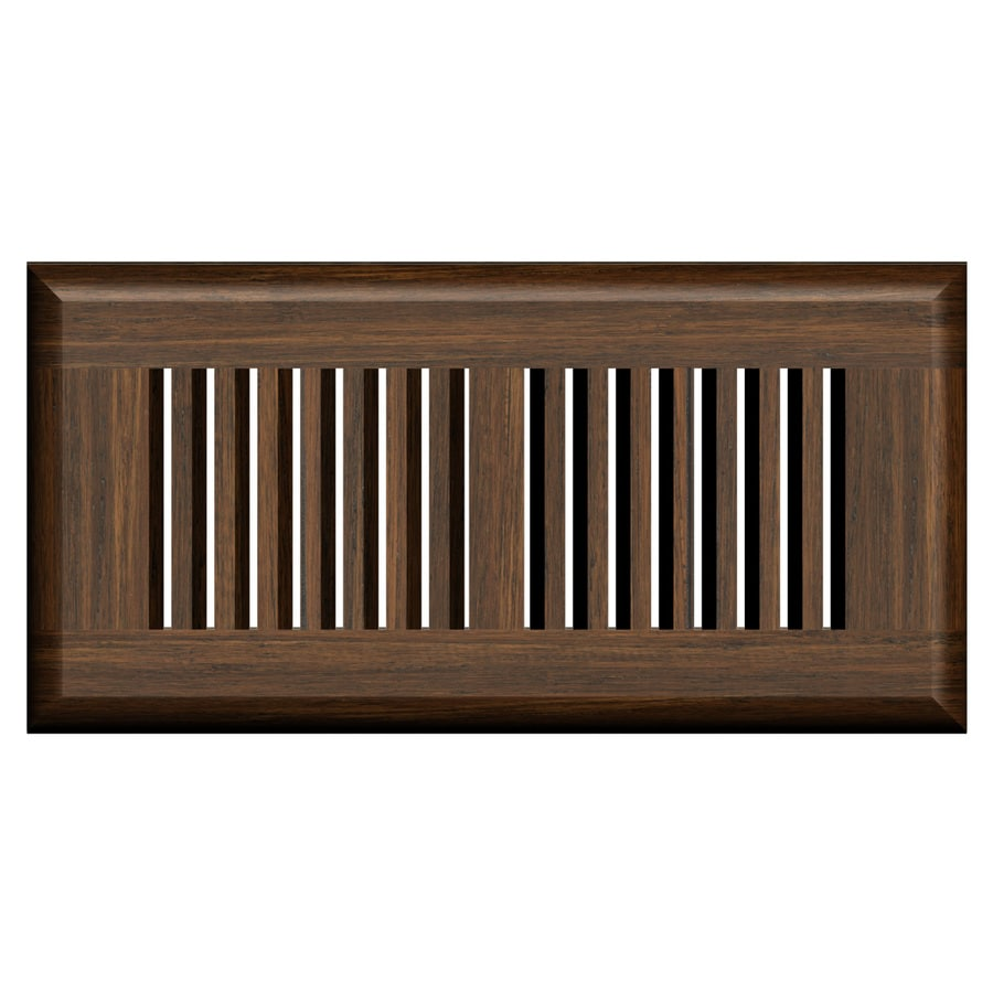 Cali Bamboo Antique Java Stained Wood Floor Register (Rough Opening: 12-in x 4-in; Actual: 13.5-in x 5.625-in)