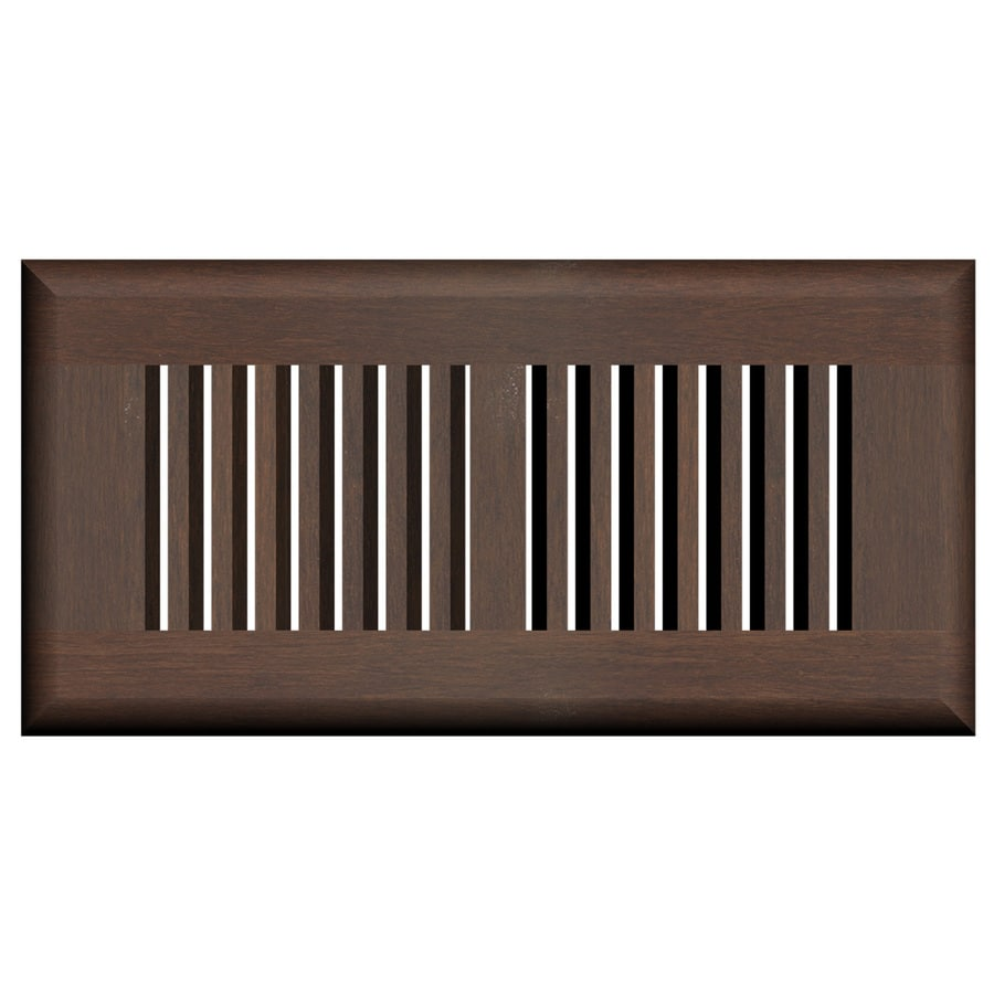 Cali Bamboo Coffee Stained Wood Floor Register (Rough Opening: 10-in x 4-in; Actual: 11.25-in x 5.625-in)