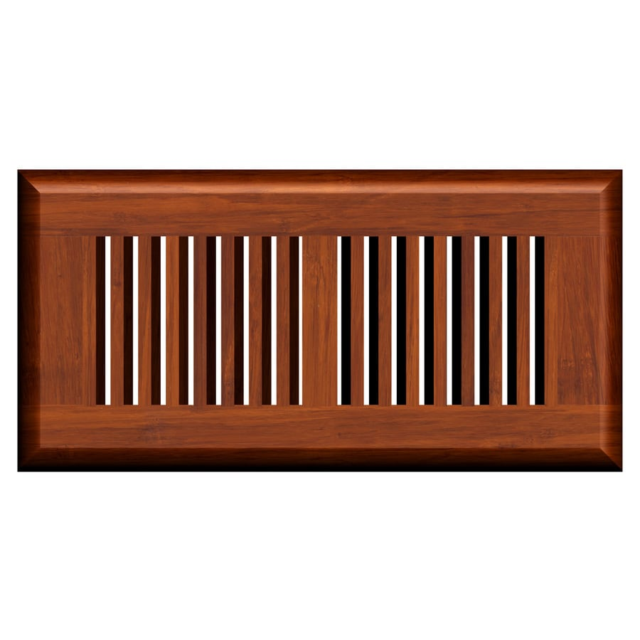 Cali Bamboo Cognac Stained Wood Floor Register (Rough Opening: 10-in x 4-in; Actual: 11.25-in x 5.625-in)