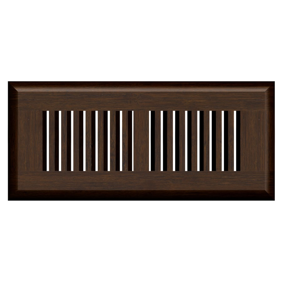 Cali Bamboo Vintage Java Stained Wood Floor Register (Rough Opening: 12-in x 4-in; Actual: 13.5-in x 5.625-in)