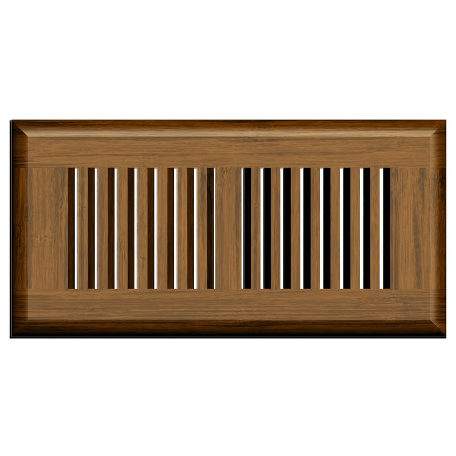 Cali Bamboo Mocha Stained Wood Floor Register (Rough Opening: 10-in x 4-in; Actual: 11.25-in x 5.625-in)