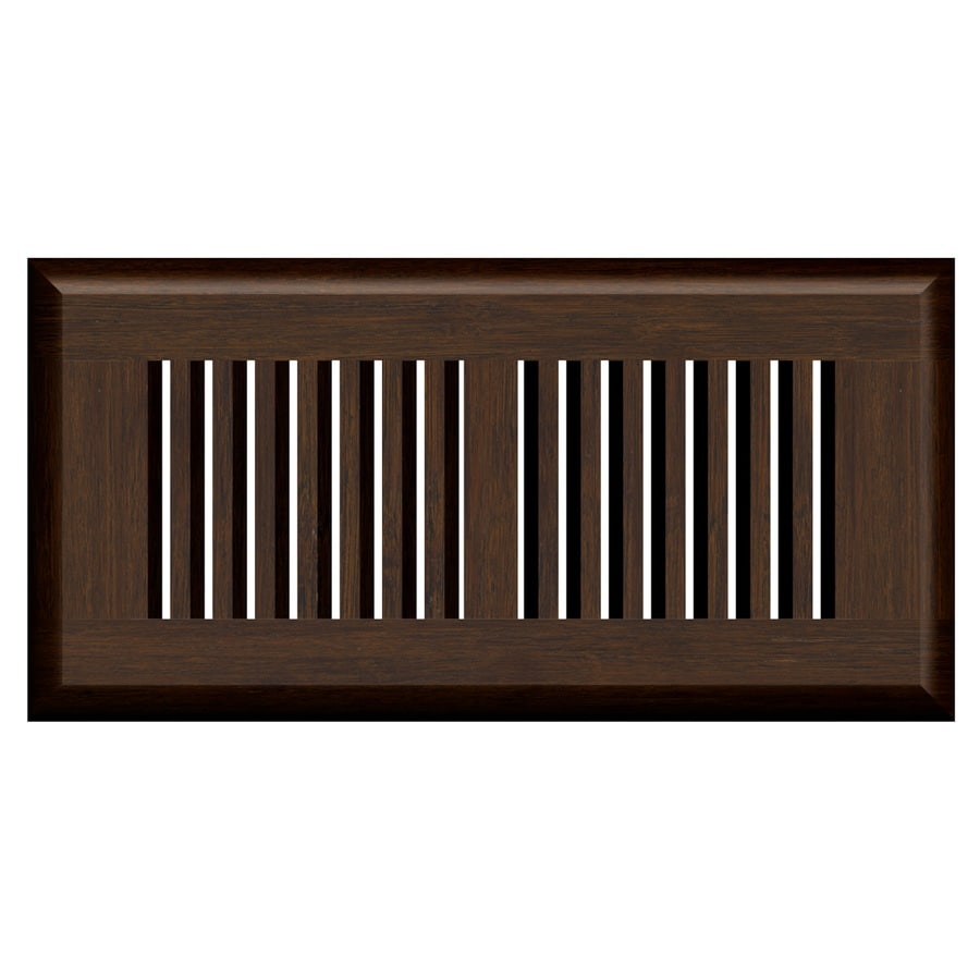 Cali Bamboo Vintage Java Stained Wood Floor Register (Rough Opening: 10-in x 4-in; Actual: 11.25-in x 5.625-in)