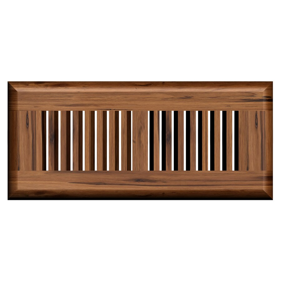 Cali Bamboo Mocha Stained Wood Floor Register (Rough Opening: 12-in x 4-in; Actual: 13.5-in x 5.625-in)