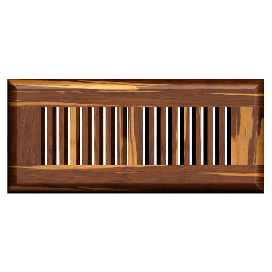 Cali Bamboo Marbled Stained Wood Floor Register (Rough Opening: 12-in x 4-in; Actual: 13.5-in x 5.625-in)