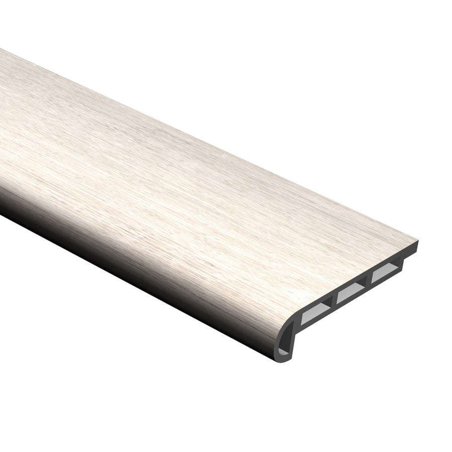 Cali Bamboo 2.07-in x 94.48-in White Aspen Vinyl Stair Nosing