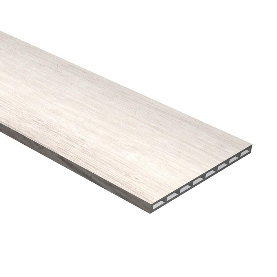 Cali Bamboo White Aspen 7.5-in x 48.03-in White Aspen Vinyl Stair Risers
