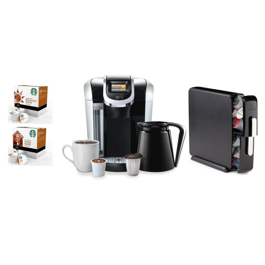 Ge Refrigerator With Keurig Coffee Maker Lowe S : Shop Keurig Black Programmable Single-Serve Coffee Maker at Lowes.com