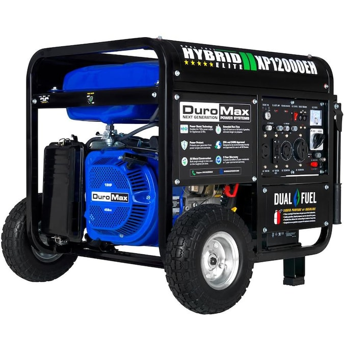 DuroMax 9500-Watt Gasoline/Propane Portable Generator in the Portable  Generators department at Lowes.com