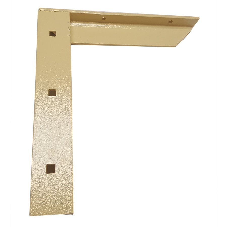 CounterBalance Concealed Bracket 12-in x 2-in x 11-in Almond Countertop Support Bracket