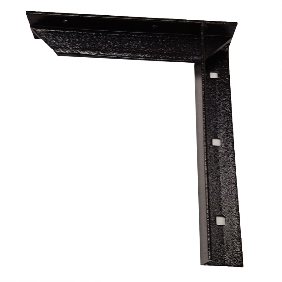 CounterBalance Concealed Bracket 12-in x 2-in x 11-in Black Countertop Support Bracket