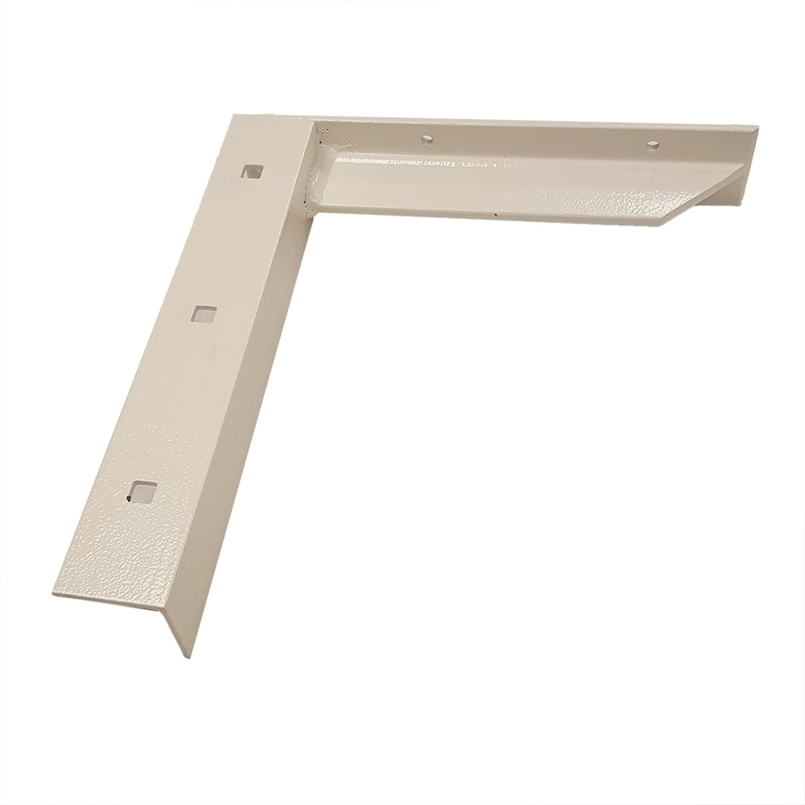 CounterBalance Concealed Bracket 12-in x 2-in x 11-in White Countertop Support Bracket
