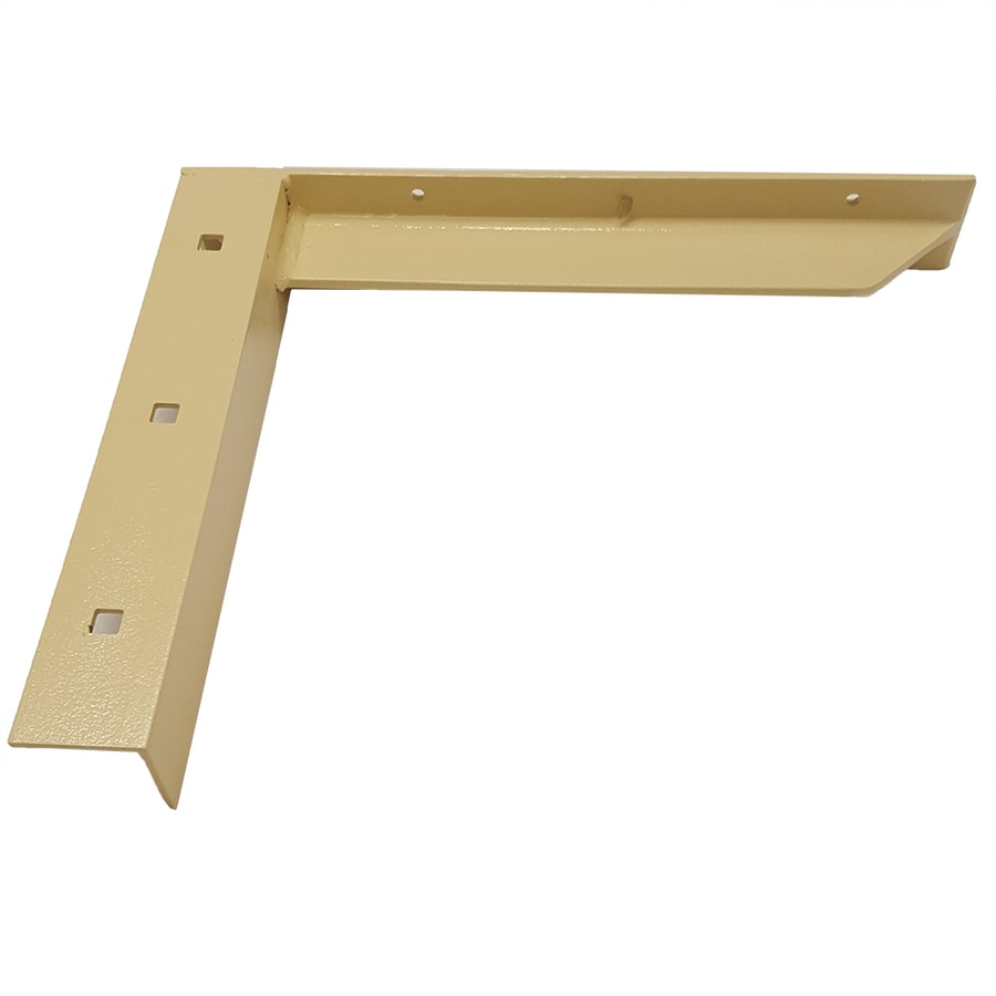 CounterBalance Concealed Bracket 12-in x 2-in x 14-in Almond Countertop Support Bracket