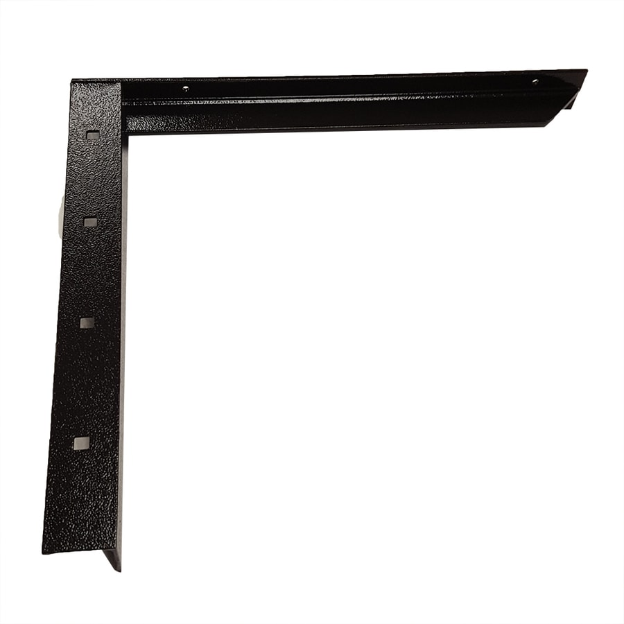 CounterBalance Concealed Bracket 18-in x 2-in x 20-in Black Countertop Support Bracket