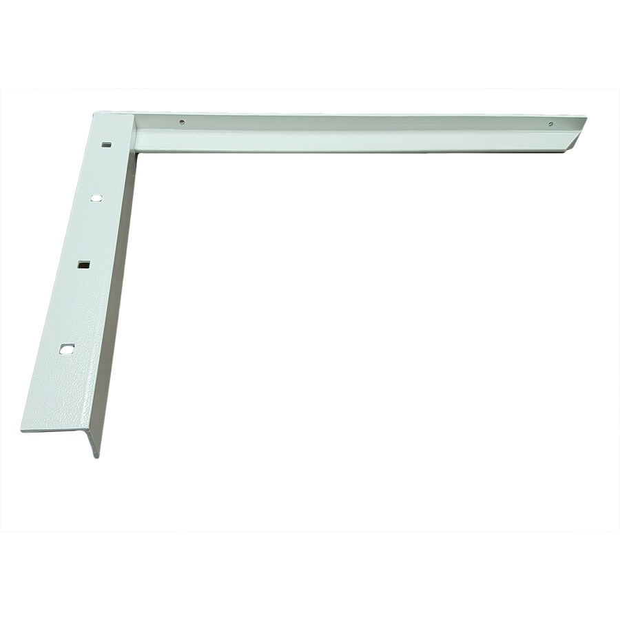 CounterBalance Concealed Bracket 18-in x 2-in x 26-in White Countertop Support Bracket