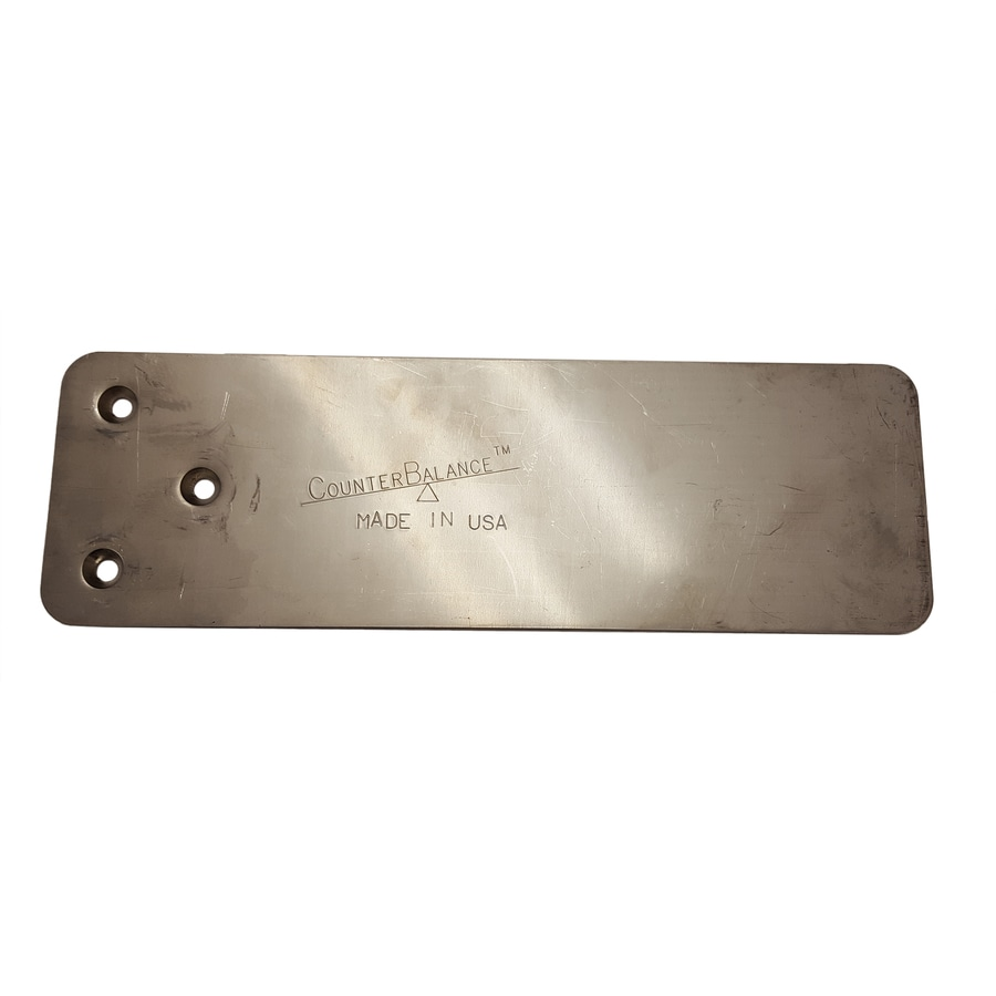 CounterBalance CouterPlate XL Stainless Steel 0.1875-in x 3.75-in x 11.75-in Stainless Steel Countertop Support Bracket