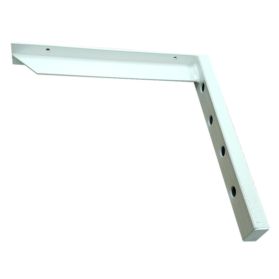 CounterBalance Hybrid Bracket 12-in x 1.5-in x 12-in White Countertop Support Bracket