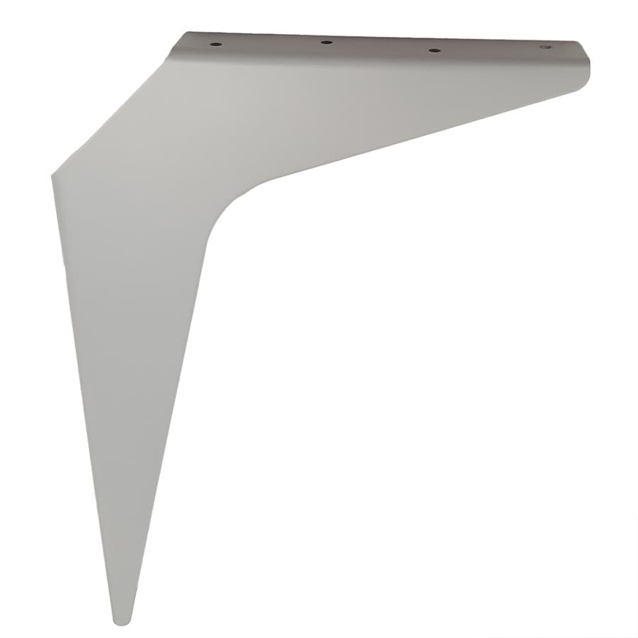 CounterBalance Workstation Bracket 15-in x 1.54-in x 21-in White Countertop Support Bracket