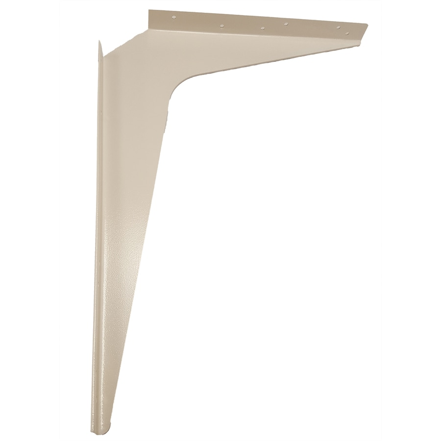 CounterBalance Workstation Bracket 18-in x 1.54-in x 24-in White Countertop Support Bracket