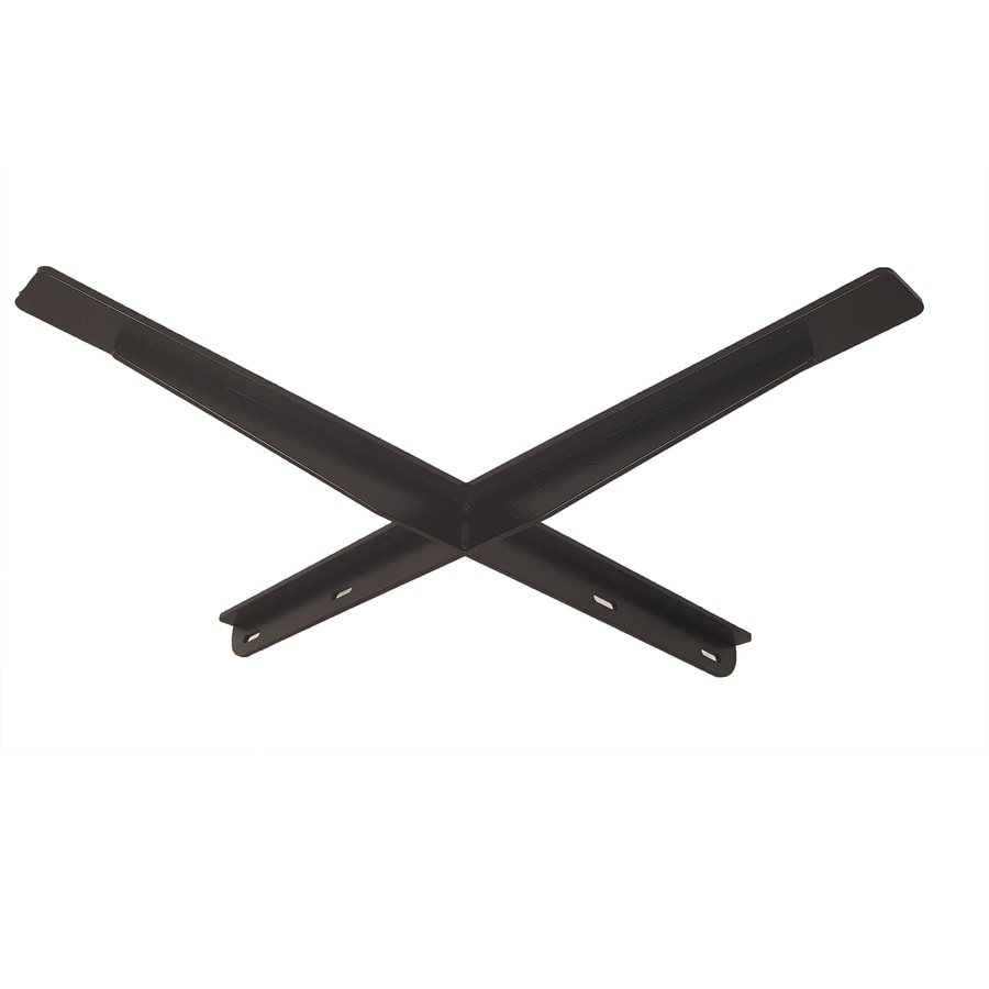 CounterBalance Crossbar 1.75-in x 24-in x 24-in Black Countertop Support Bracket
