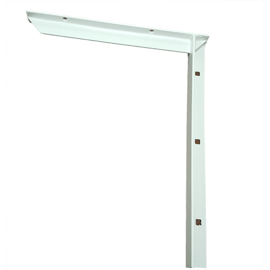 CounterBalance Concealed Bracket Mini 12-in x 1-in x 10-in White Countertop Support Bracket