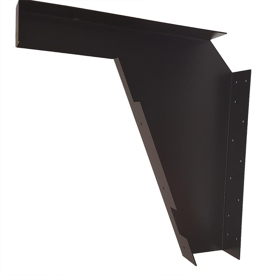 CounterBalance Ada Bracket 22-in x 3-in x 21-in Black Countertop Support Bracket