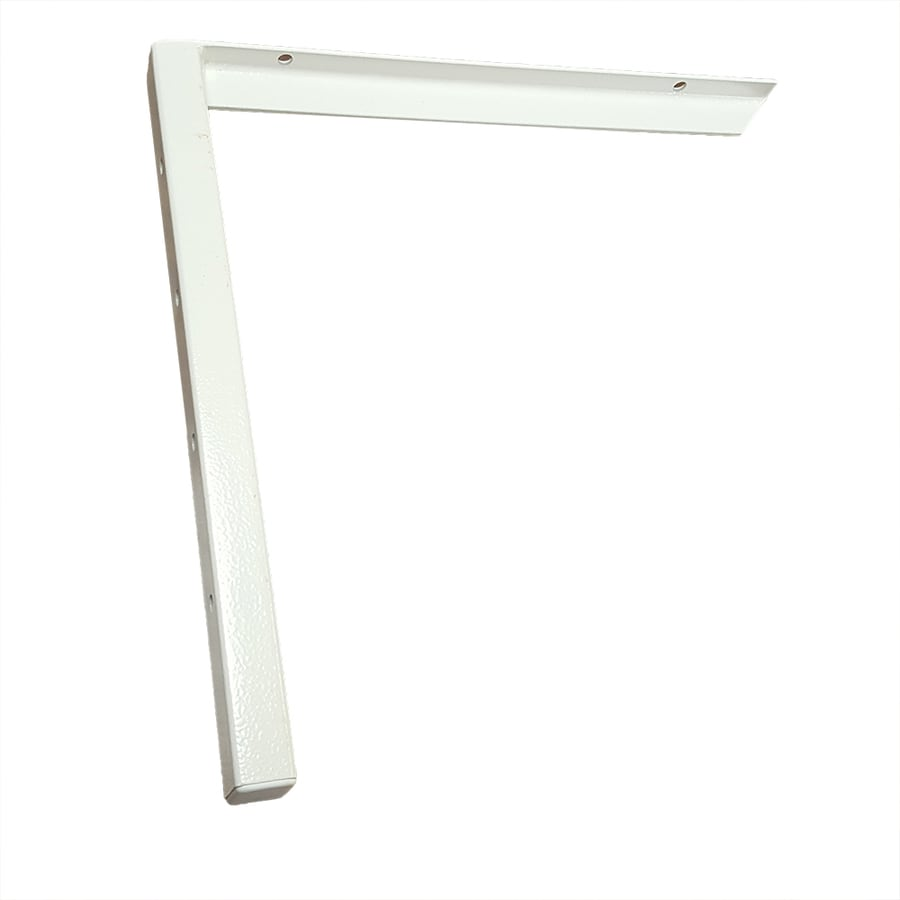 CounterBalance Hybrid Bracket Mini 18-in x 1-in x 18-in White Countertop Support Bracket