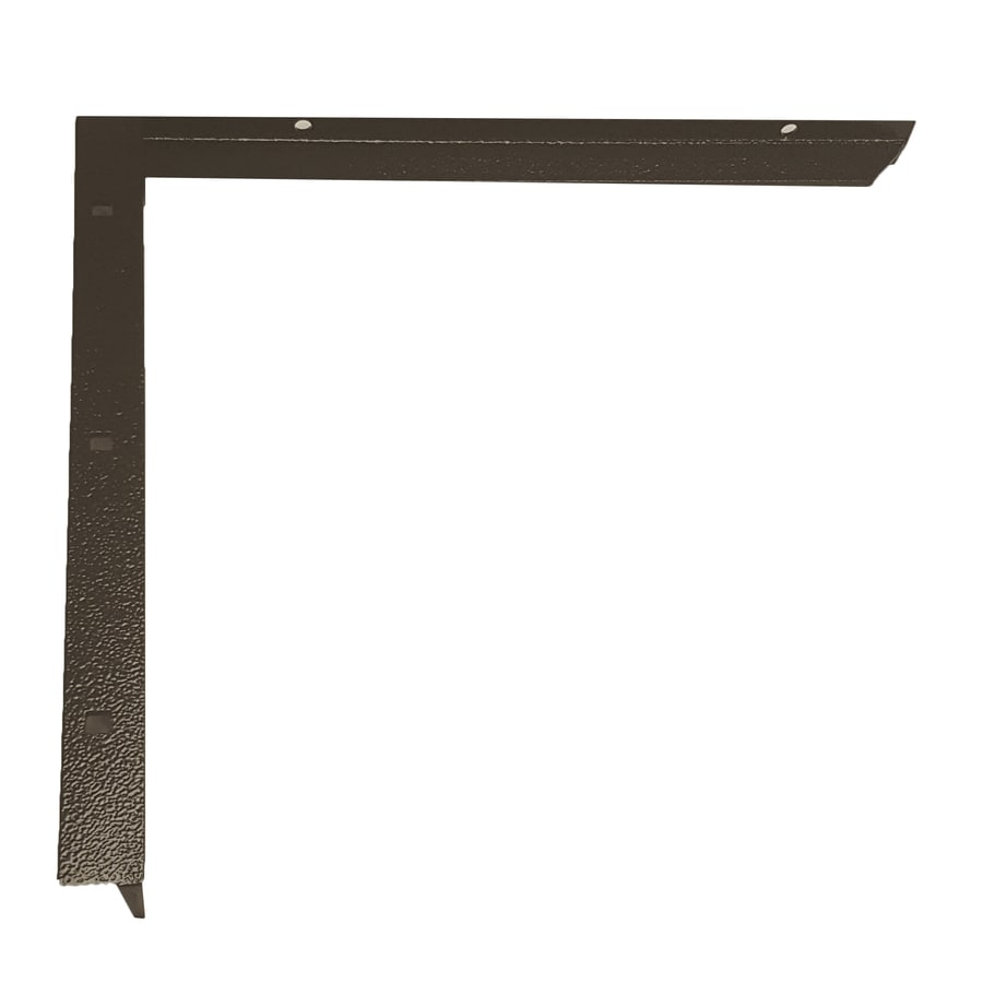 CounterBalance Concealed Bracket Mini 11-in x 1-in x 10-in Black Countertop Support Bracket