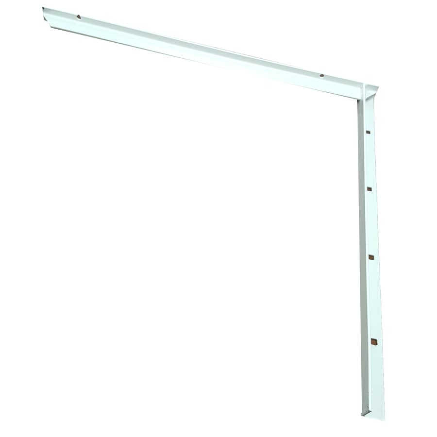 CounterBalance Concealed Bracket Mini 16-in x 1-in x 19-in White Countertop Support Bracket