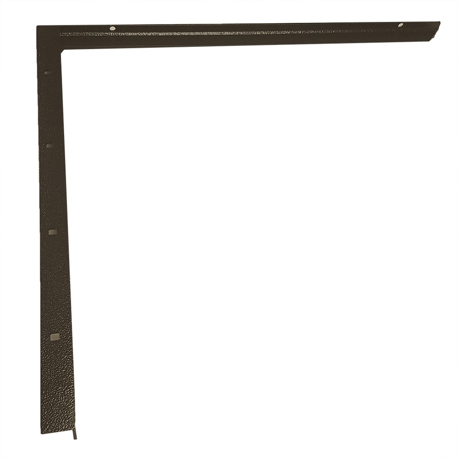 CounterBalance Concealed Bracket Mini 16-in x 1-in x 19-in Black Countertop Support Bracket