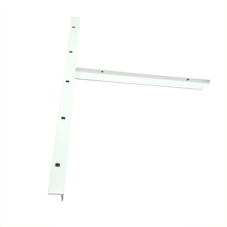 CounterBalance Extended Concealed Bracket Mini 20-in x 1-in x 13-in White Countertop Support Bracket