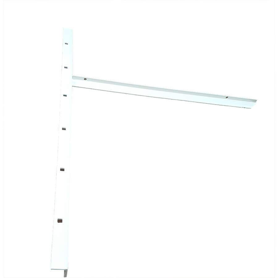 CounterBalance Extended Concealed Bracket Mini 26-in x 1-in x 19-in White Countertop Support Bracket