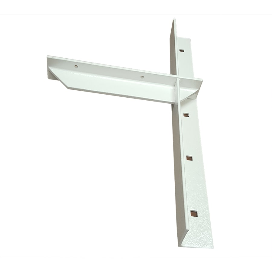 CounterBalance Extended Concealed Bracket 20-in x 2-in x 11-in White Countertop Support Bracket