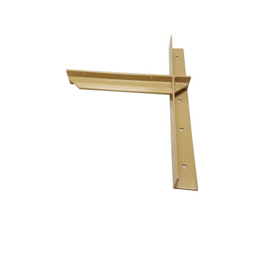 CounterBalance Extended Concealed Bracket 20-in x 2-in x 14-in Almond Countertop Support Bracket