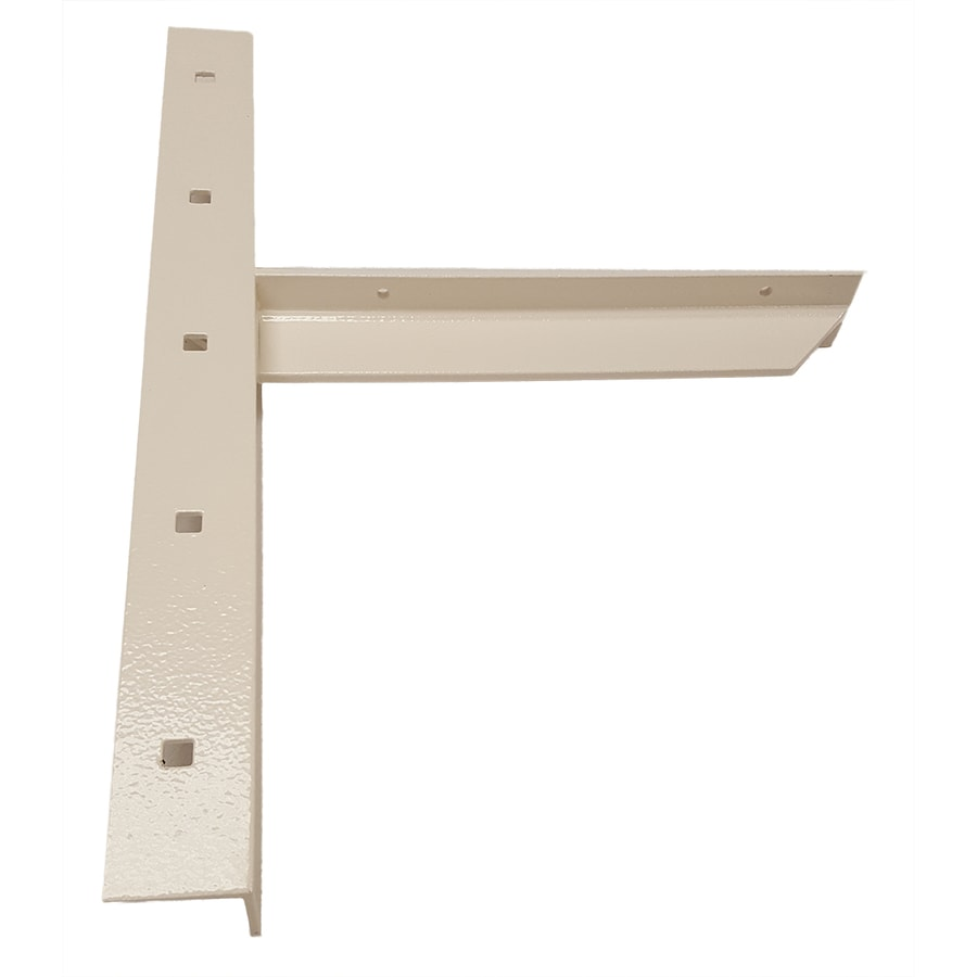 CounterBalance Extended Concealed Bracket 20-in x 2-in x 14-in White Countertop Support Bracket