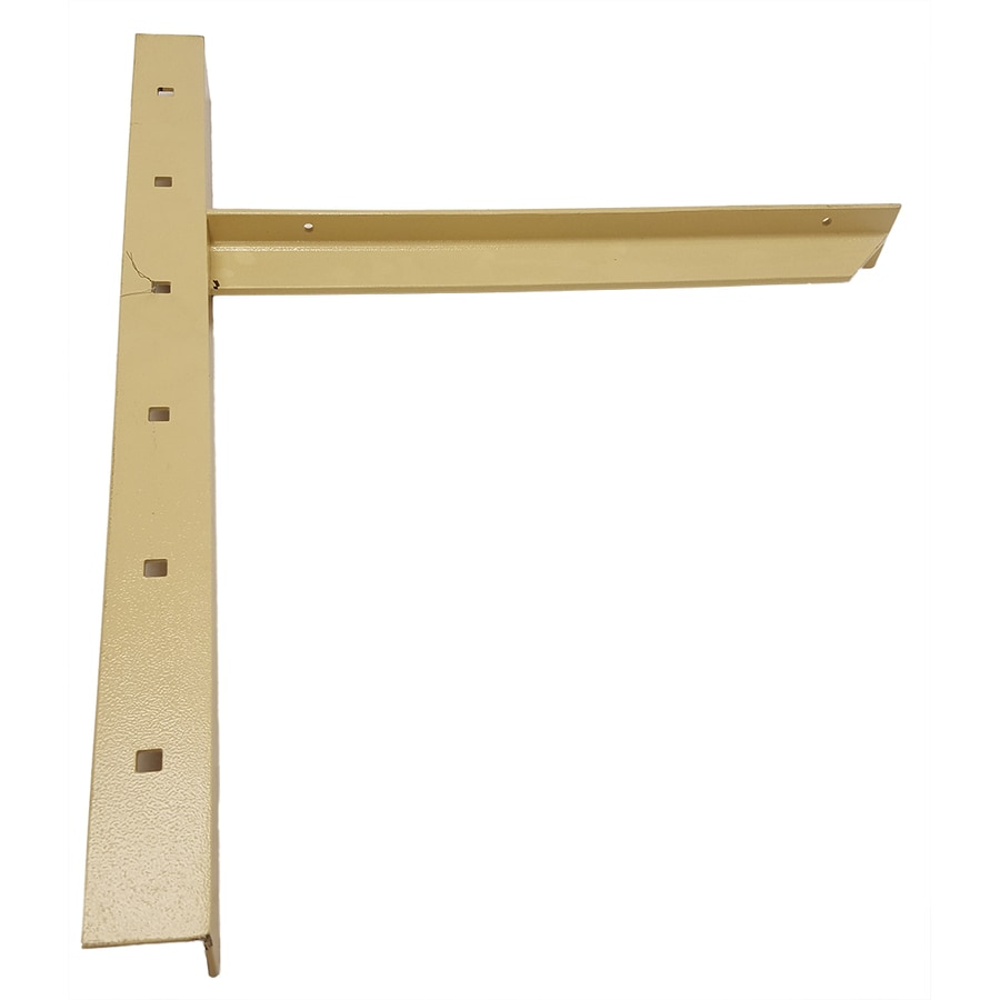 CounterBalance Extended Concealed Bracket 26-in x 2-in x 20-in Almond Countertop Support Bracket