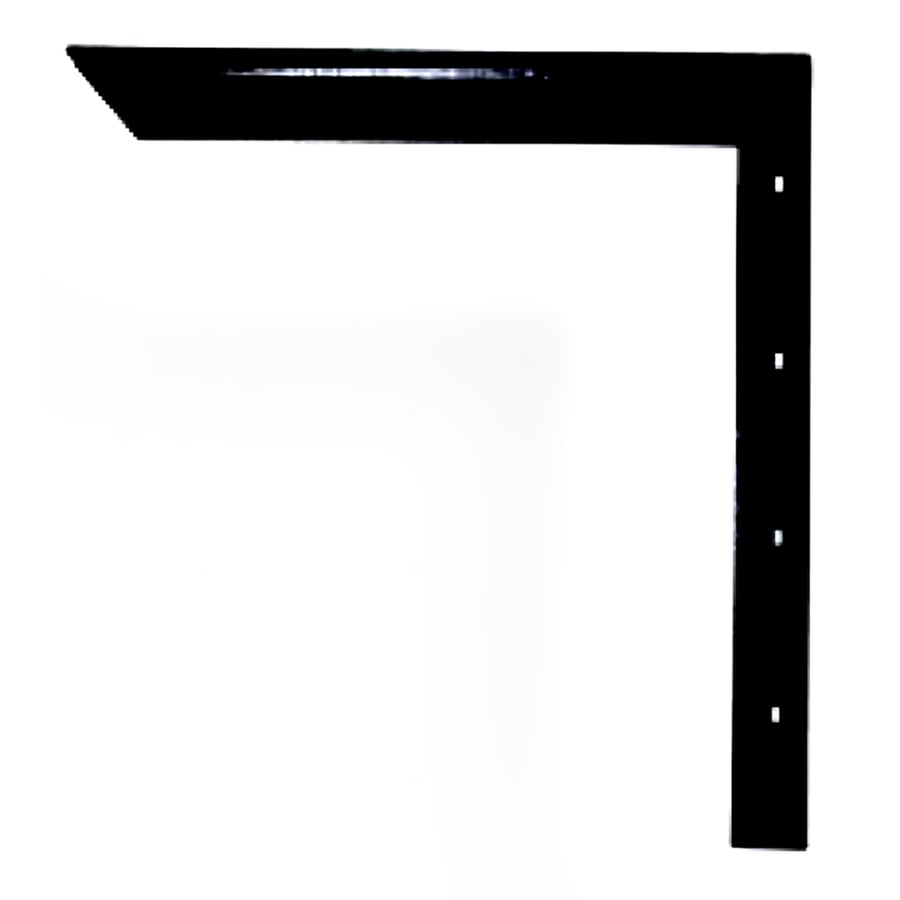 CounterBalance Concealed Bracket 32-in x 2-in x 32-in Black Countertop Support Bracket