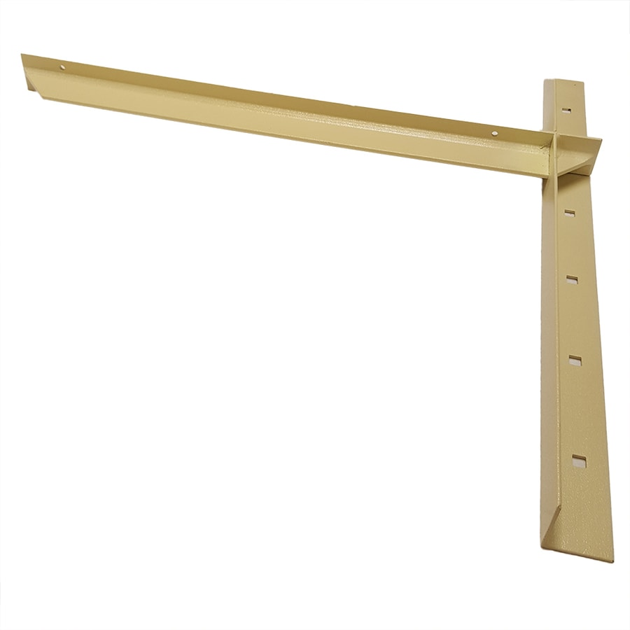 CounterBalance Extended Concealed Bracket 26-in x 2-in x 26-in Almond Countertop Support Bracket