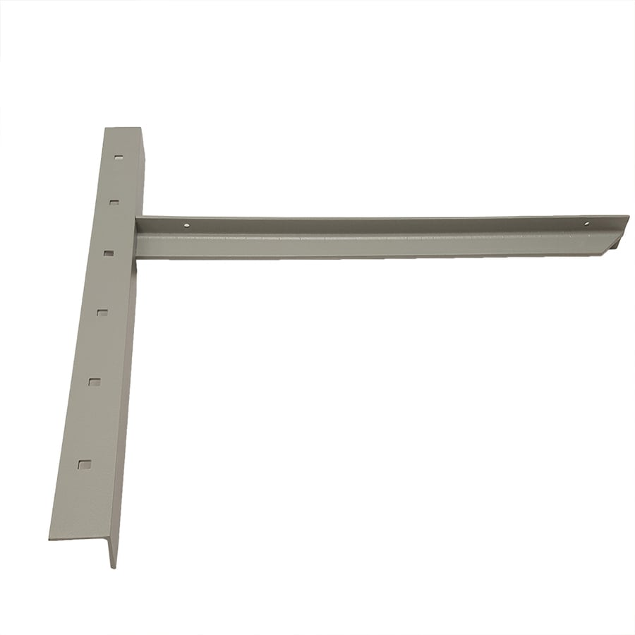 CounterBalance Extended Concealed Bracket 26-in x 2-in x 26-in Gray Countertop Support Bracket