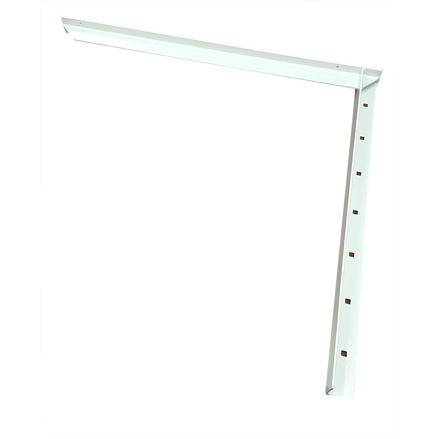 CounterBalance Extended Concealed Bracket 38-in x 2-in x 32-in White Countertop Support Bracket
