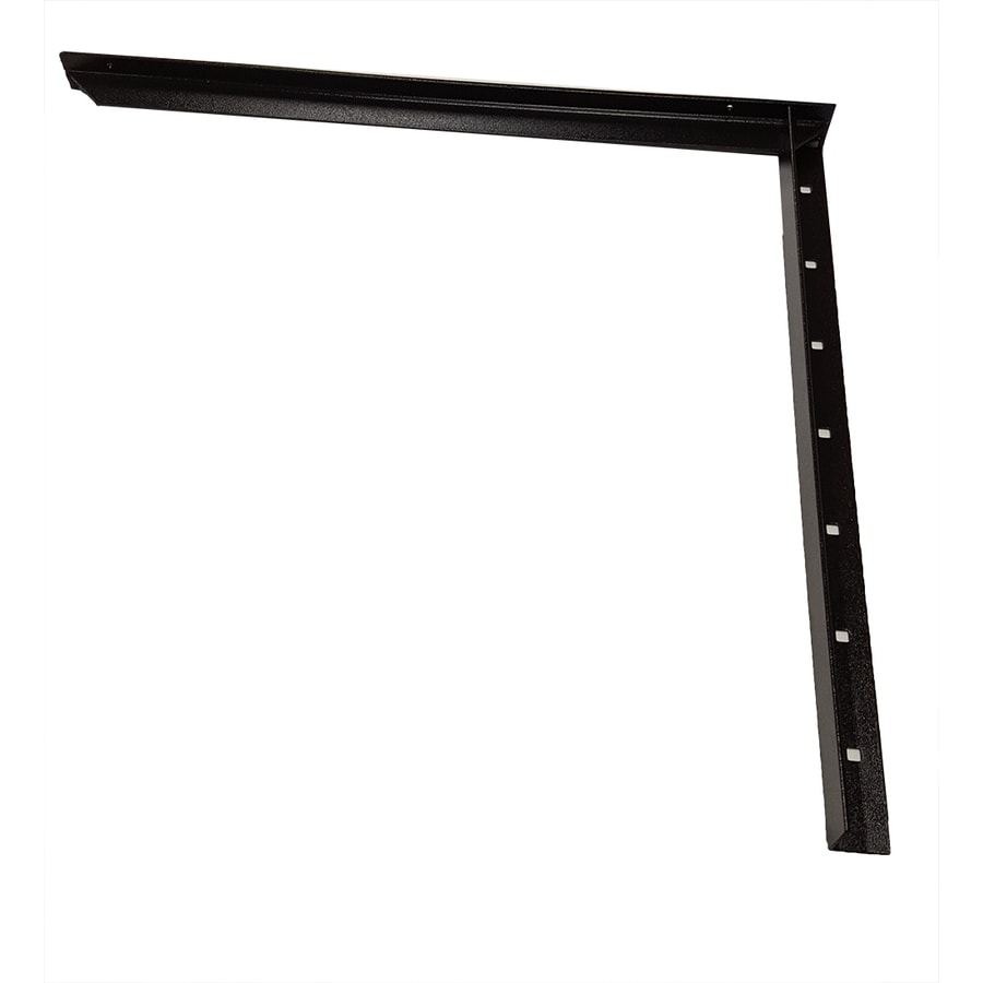 CounterBalance Extended Concealed Bracket 38-in x 2-in x 32-in Black Countertop Support Bracket