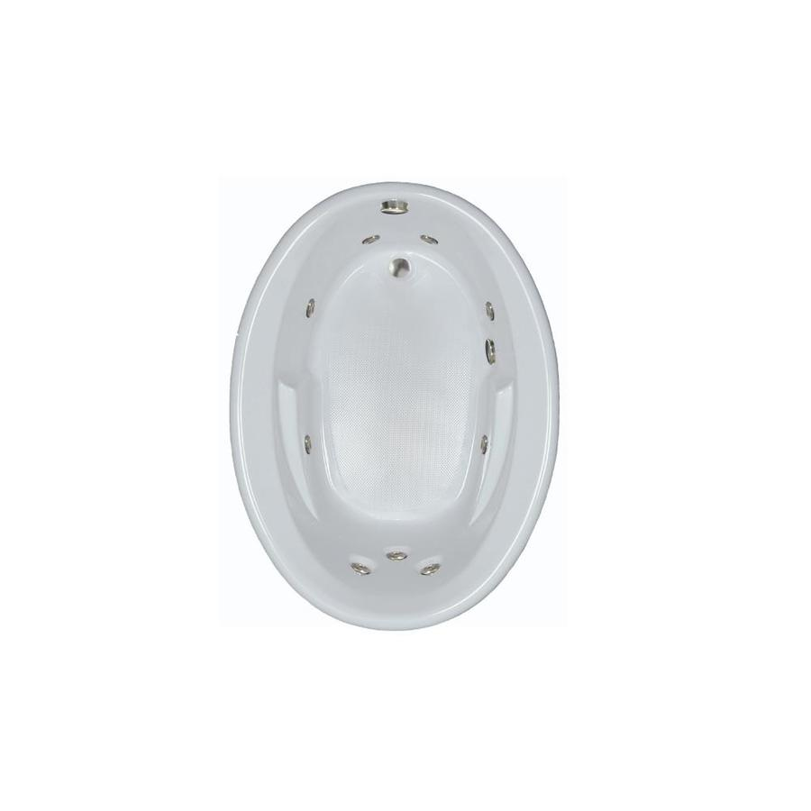 Watertech Whirlpool Baths White Acrylic Oval Whirlpool Tub (Common: 42-in x 60-in; Actual: 19.5-in x 41.5-in x 59.625-in)